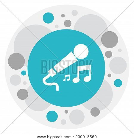 Vector Illustration Of Mp3 Symbol On Microphone Icon