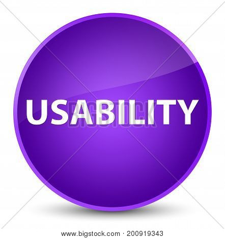Usability Elegant Purple Round Button