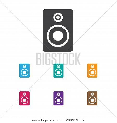 Vector Illustration Of Melody Symbol On Sound Loudspeaker Icon