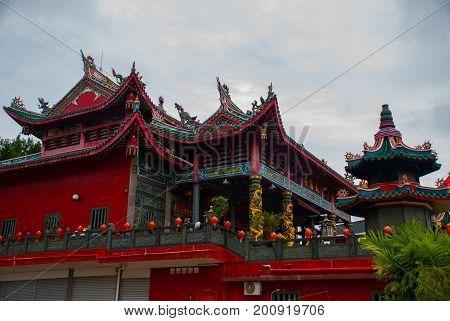 Tua Pek Kong Chinese Temple. Bintulu City, Borneo, Sarawak, Malaysia