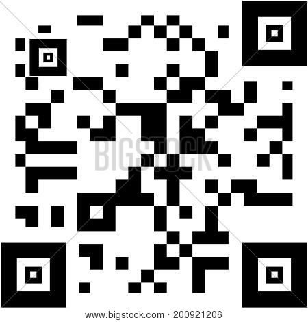 sample squared  qr code in black and white
