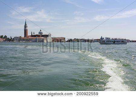 San Giorgio Maggiore is a basilica on the island of San Giorgio Maggiore in Venice July 21 2017