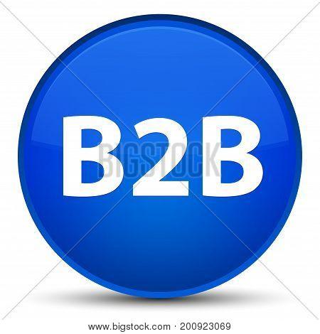 B2B Special Blue Round Button