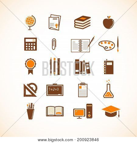 Education and school icons. Vector eps 8