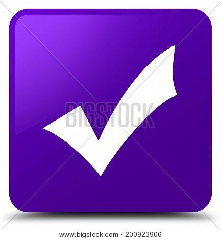 Validation Icon Purple Square Button