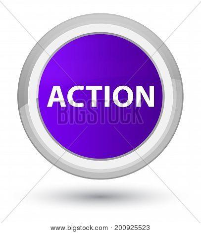 Action Prime Purple Round Button