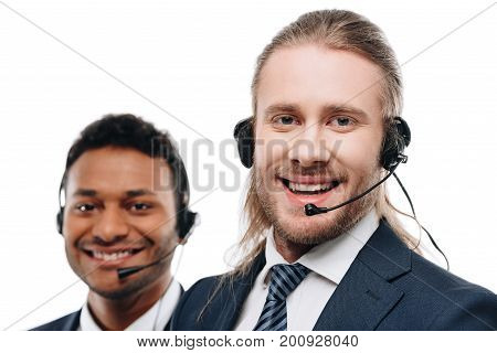 Multiethnic Operators With Headsets