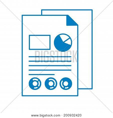 silhouette business documents with statistics diagram graphy vector illustration