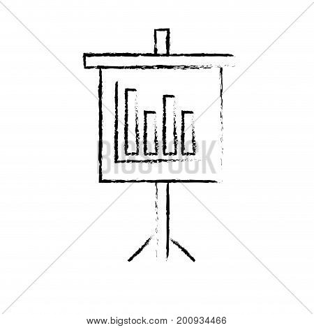 figure presentation business document with statistics bars graphy vector illustration