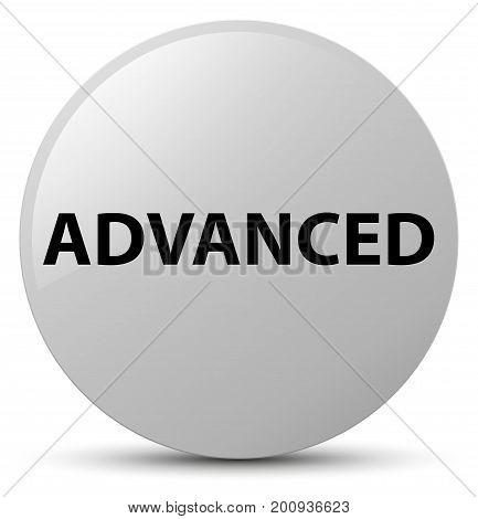 Advanced White Round Button