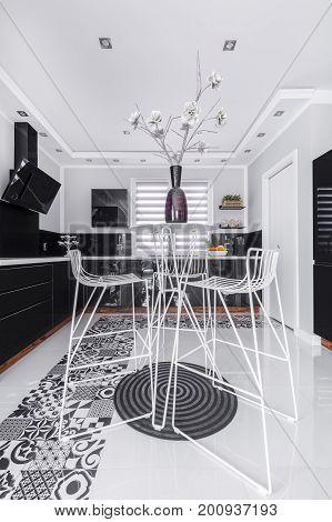 Dining Space In Modern Kitchen