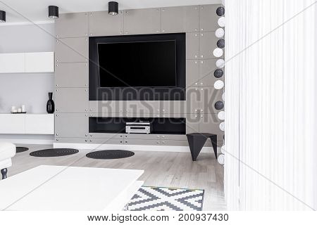 Luxurious Entertainment Zone In Apartment