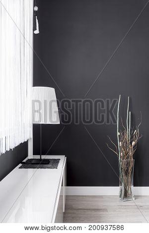 Lamp In Black Room