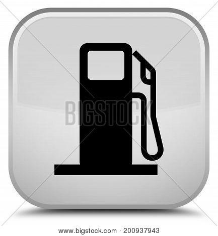 Fuel Dispenser Icon Special White Square Button