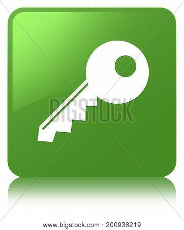 Key Icon Soft Green Square Button