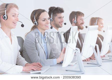 Telemarketers At Work