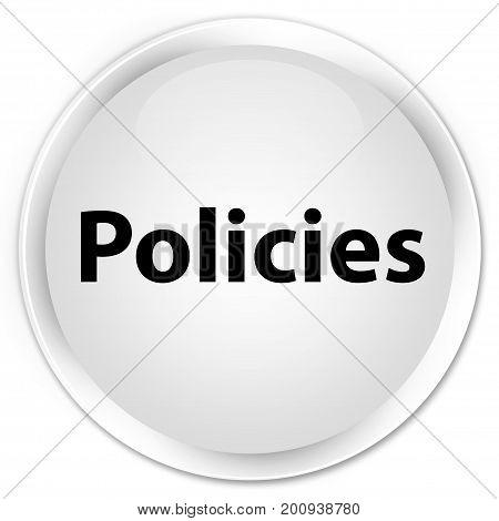 Policies Premium White Round Button