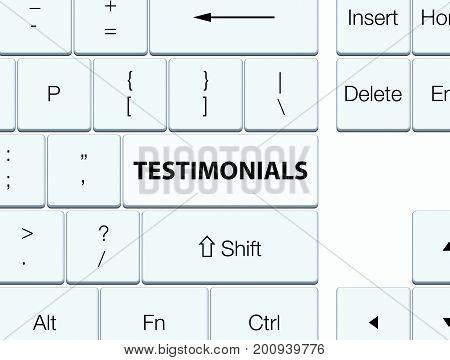 Testimonials White Keyboard Button