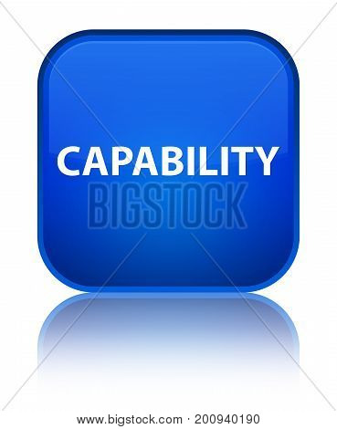 Capability Special Blue Square Button