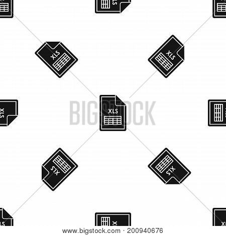 File XLS pattern repeat seamless in black color for any design. Vector geometric illustration