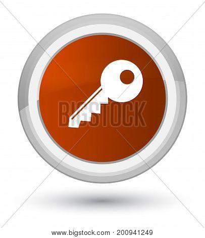 Key Icon Prime Brown Round Button