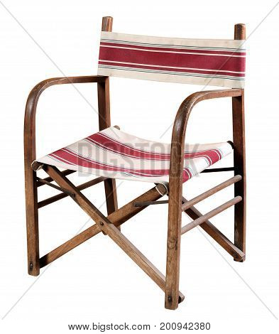 Wooden Bentwood Chair With Canvas Seat