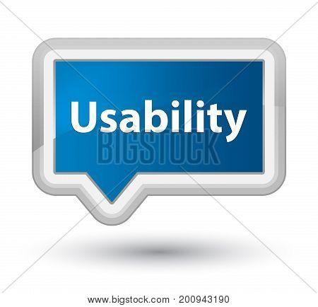 Usability Prime Blue Banner Button