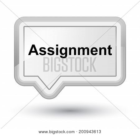 Assignment Prime White Banner Button