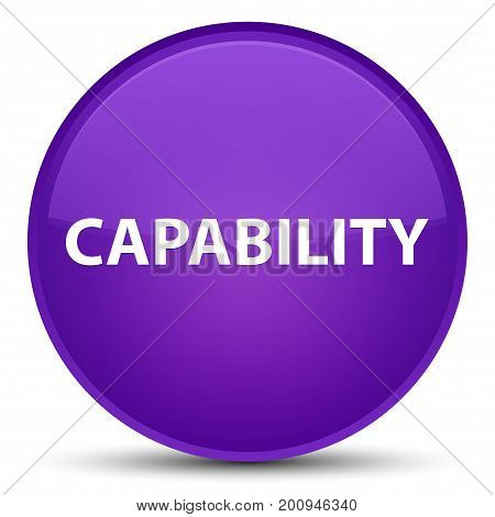 Capability Special Purple Round Button