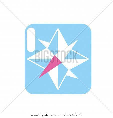 compass symbol to geography adventure direction vector illustration