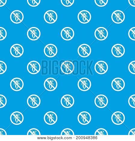 No louse sign pattern repeat seamless in blue color for any design. Vector geometric illustration