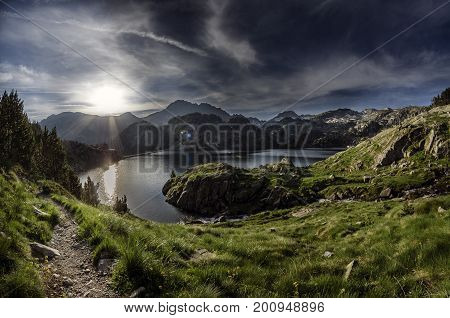 Colomers-High up lakes, distant from civilization, excepting the moderate amount of people visiting it. Nature in its purest form, with two trekking routes: one that is 4 hours long and the other which is a little longer that share the same starting point