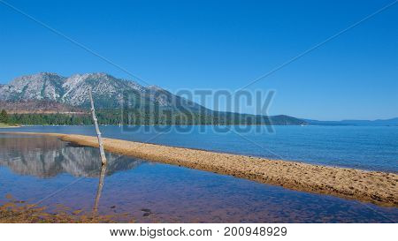 Scenery of the nature on South Lake Tahoe in California