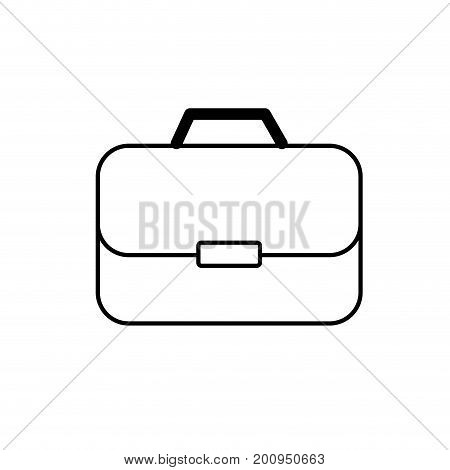 line briefcase to businessman important documents pepers vector illustration