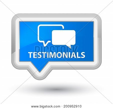 Testimonials Prime Cyan Blue Banner Button