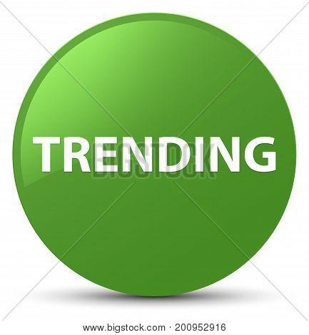 Trending Soft Green Round Button