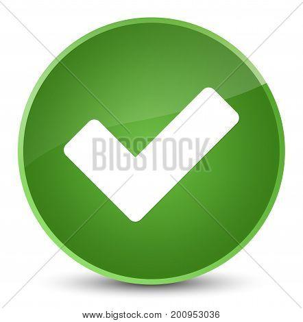 Validate Icon Elegant Soft Green Round Button