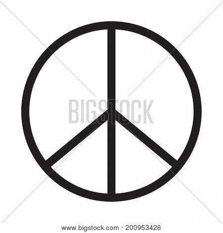peace icon on white background. peace sign.