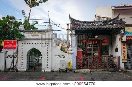 Old Town In Malacca, Malaysia