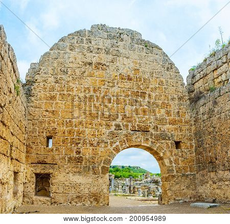 The Walls Of Ancient Perge Temple
