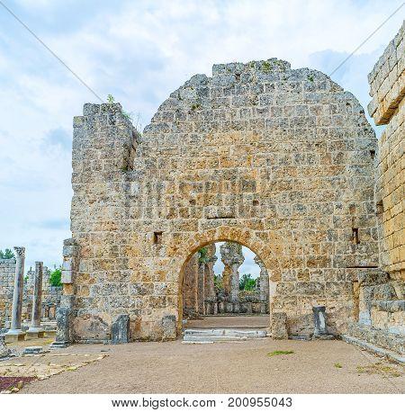 The Facade Of Artemis Temple