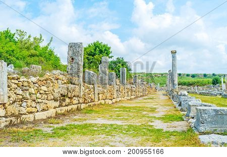 The Ancient Shopping Street Of Perge