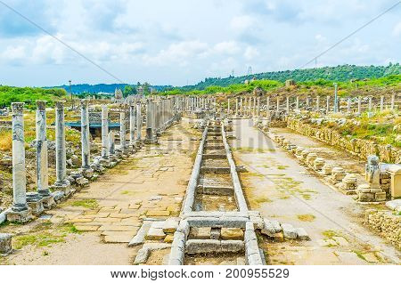 The Colonnaded Streets Of Perge