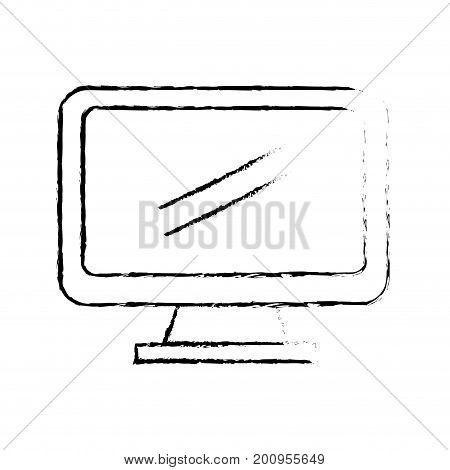 figure computer electronic technology with database information vecto illustration