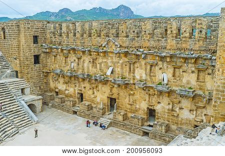 The Walls Of Aspendos Amphitheater