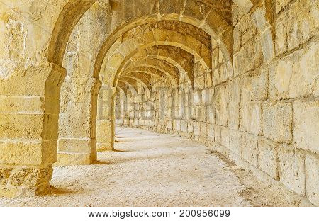 The Upper Gallery Of Aspendos Amphitheater