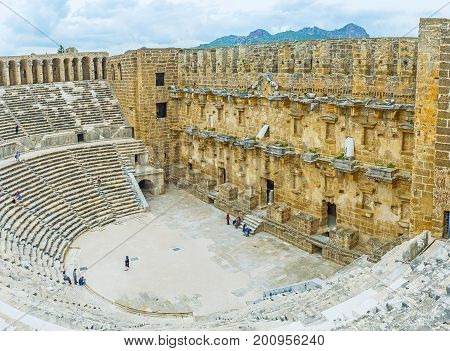 The Great Pamphylian Amphitheater, Aspendos