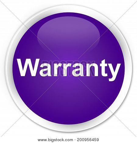 Warranty Premium Purple Round Button