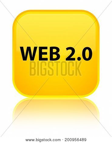 Web 2.0 Special Yellow Square Button