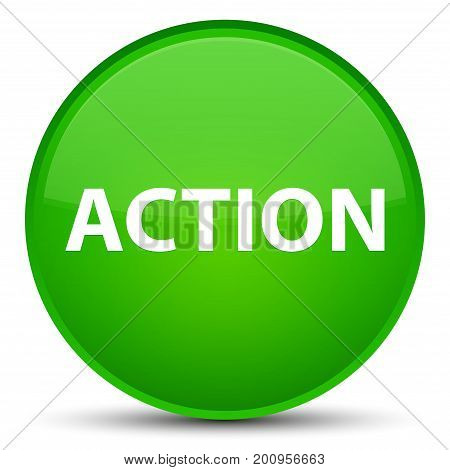 Action Special Green Round Button